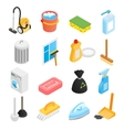 Cleaning isometric 3d icons vector image vector image