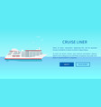 cruise liner web page design in travelling concept vector image