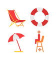 equipment for beach icon in cartoon style vector image