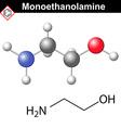 Ethanolamine molecule vector image vector image