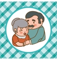 Family and Grandparents design vector image vector image