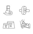 fitness equipment linear icons set vector image vector image