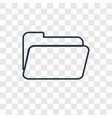 folder concept linear icon isolated on vector image