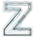 Font letter Z vector image
