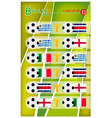 Football Tournament of Brazil 2014 Group D vector image vector image