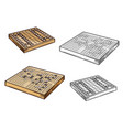 go and shogi japanese board games vector image
