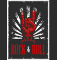 hand in rock n roll sign vector image vector image