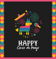 happy cinco de mayo cute mexican pinata card vector image vector image