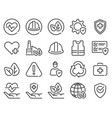 health safety environment icons occupational vector image vector image