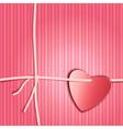 Heart paper present vector image vector image