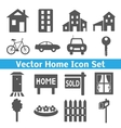 Home icons set Real estate vector image vector image