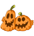 hugging pumpkins vector image vector image