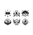 Hunting season logo wildlife travel adventure