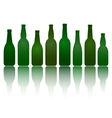 isolated green beer bottles vector image vector image