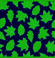 leaves seamless green vector image vector image