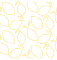 lemon outline yellow seamless background vector image vector image