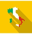 Map of Italy in national flag colors icon vector image vector image
