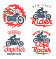 motorcycle prints set 001 vector image vector image