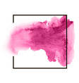 pink colorful watercolor hand drawn stroke vector image