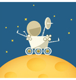 Planet rover on the moon vector image
