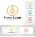power tech logo designs vector image vector image