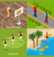 professions people isometric design concept vector image vector image