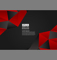 red and black color polygon abstract background vector image vector image