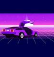 retro violet car vector image