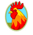 rooster portrait icon vector image