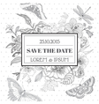 save date - floral shabchic card vector image vector image