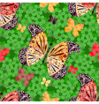 Seamless floral pattern with butterflie vector image vector image