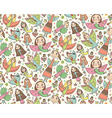 seamless pattern with cute fairies in childrens vector image