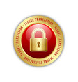 secure transaction padlock icon suitable vector image