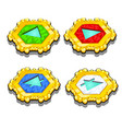 set of chips with symbols of elements isolated vector image