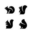 set squirrel logo vector image vector image