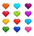 Set with cartoon hearts vector image vector image