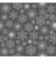 snowflake background silver vector image vector image