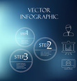 subtle elements of infographics Thin style On blur vector image vector image