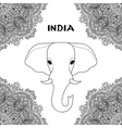 symbol india elephant vector image