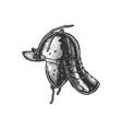 szyszak type post-renaissance combat helmet vector image vector image