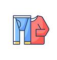 thermal underwear rgb color icon vector image vector image