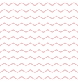 Tile pattern with pink zig zag on white background vector image vector image
