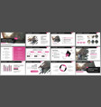 tri fold business brochure creative corporate vector image