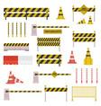under construction barrier set vector image vector image