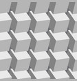 white cubes seamless pattern vector image vector image