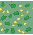 Yellow and green pepper seamless texture 607 vector image vector image