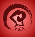 Yoga label with Zen symbol vector image vector image