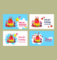 cake business card vector image