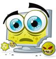 PC virus vector image