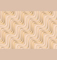 abstract beige waves geometric seamless pattern vector image vector image